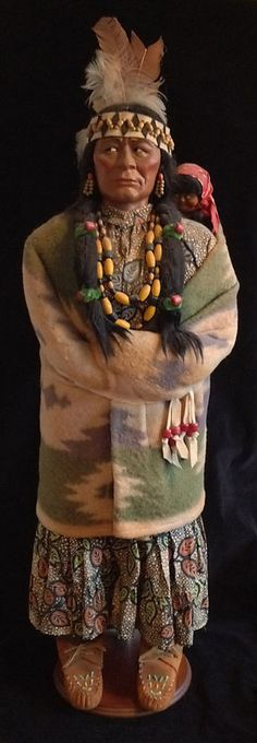 Large 38 inch Store Display Skookum Indian Doll: Circa 1941