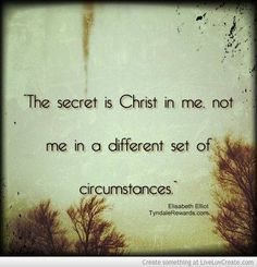 the secret is christ in me elisabeth elliot - Google Search