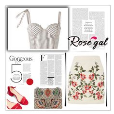 Gorgeous Sunday by Nara Puera on Polyvore featuring Rosie Assoulin, Topshop, Express, Gucci, Nicki Minaj, weekend, sunday, georgeous, shoulder bag, five, weekend, fashionweek, petite, skirt, floral, rosegal, heels, red, stripped, simple beauty, casual, chic, fashionable girl, woman, power look, look of the day, like it, nyc, milan, london, Baku, Azerbaijan