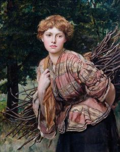 The Gamekeeper's Daughter ~ Valentine Cameron Prinsep ~ (English: 1838-1904)