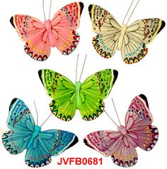 The feather artificial butterflies are the elaborately handcrafted butterflies with exquisite design.Beautiful Feather Butterflies in assorted colors and sizes! Artifical Butterflies-Decorative Butterflies-Feather Butterflies-Wedding Butterflies-Floral Crafts.