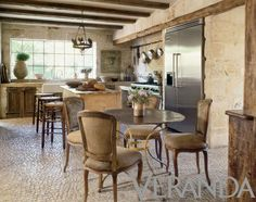 French farmhouse and European style in these kitchens by Pamela Pierce Designs