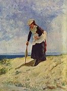 "New artwork for sale! - "" Woman On The Beach by de Nittis Giuseppe "" - http://ift.tt/DHzEA2"