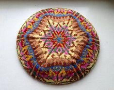 Knitting pattern for Muriel Fair Isle Tam by Eline Oftedal on Ravelry Fair Isle Knitting Patterns, Fair Isle Pattern, Knit Patterns, Stitch Patterns, Crochet Winter, Knit Crochet, Double Knitting, Hand Knitting, Tam O' Shanter