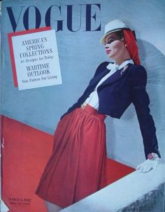 VOGUE US 1942 March 1 SPRING FASHIONS - VOGUE USA 1942 - Vintage Fashion Publications