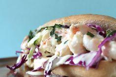 Jumbo Tarragon Shrimp Roll with an Orange Mayo - without the orange
