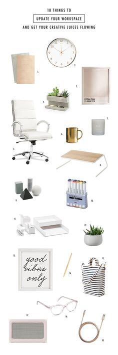 Wishlist: 18 Creative Workspace Must-haves #desk #workspace #designers