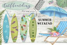 Tropical Hippo. Summer Travel Set. by AnnArtHouze on @creativemarket