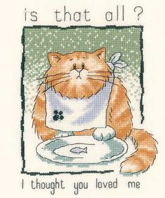 Is That All ? - Peter Underhill Cat Cross Stitch