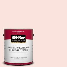 BEHR Premium Plus, 1-gal. #190A-1 Soft Pink Hi-Gloss Enamel Interior/Exterior Paint, 805001 at The Home Depot - Mobile