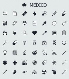 MedICO - black and white medical icons