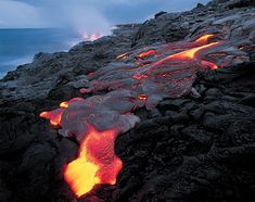 Flow Into The Ocean: Lava Photography by G. Brad Lewis | Inspiration Grid | Design Inspiration