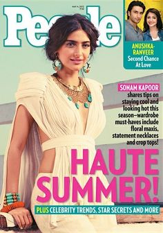 Sonam Kapoor on the cover of People magazine 2012 Apr