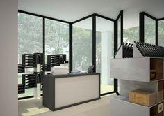 Arredamento per #enoteca Esigo con #portabottiglie Esigo 2 Box ed Esigo 5 Floor --- #Wineshop #furniture Esigo with #design winerack #Esigo 2 Net and #Esigo 5 Floor.