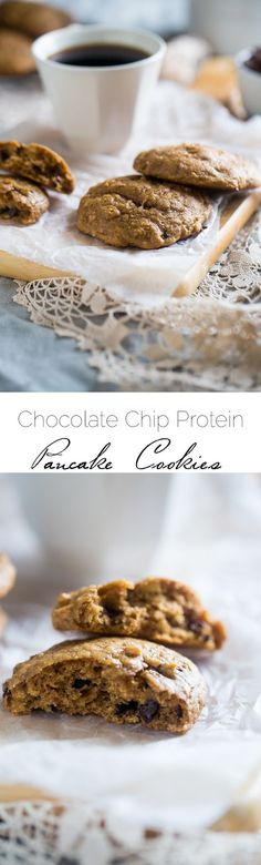 Gluten Free Chocolate Chip Cookies - Naturally sweetened with banana and made with a secret ingredient so they're high protein! Easy and healthy enough for breakfast! | www.foodfaithfitness.com?utm_content=buffer0e154&utm_medium=social&utm_source=pinterest.com&utm_campaign=buffer | Taylor | Food Faith Fitness