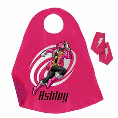 Power Rangers Pink Ranger Pink Super Cape and Cuffs Set - Halloween - Holiday & Seasonal | Tv's Toy Box