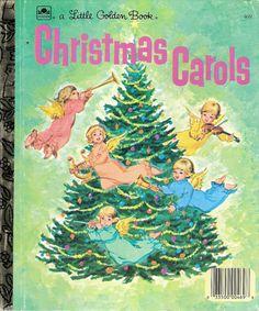 Christmas Carols Vintage Little Golden Book by MyLittleBookGarden