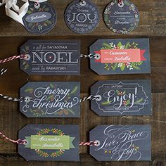 In chalkboard style, these gift tags are a perfect topper for your holiday packages. Easy to personalize, download and print.