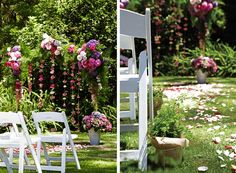 Learn how to make your own wedding ceremony arch in this Wedding DIY step by step guide.
