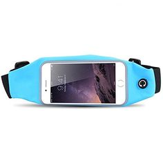 Running Waist Packs GreenElec Universal Running Belt Waist Pack for iPhone 6S 6S Plus Samsung Galaxy S5 S6 S7 Edge and inch below 55 Sweatproof waterproof Packs SkyBlue *** You can get more details by clicking on the image.