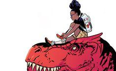 moon girl, devil dinosaur, marvel, marvel comics, natacha bustos
