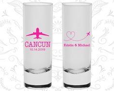 Destination Wedding Shooters, Custom Shooter Glasses, Travel Wedding Shooters, Airplane, Heart, Custom Shooters (92)