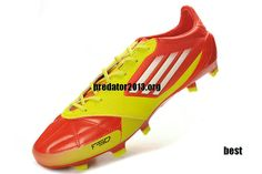 Adidas F50 Adizero 2012 micoach TRX FG Leather Soccer Cleats - High Energy White Electricity
