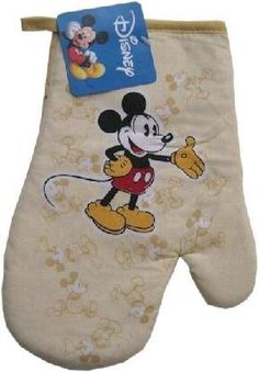 "Hello and thank you for visiting!  ��  You are viewing a brand new with tag Disney Mickey Mouse oven mitt.  100% cotton, full adult size (about 10"").  Cheer up your kitchen or gift to your favorite chef!  Great use of your Photon$! FREE SHIPPING! (8 Av..."