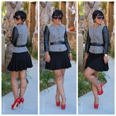 DIY Studded Jacket & DIY Flippy Skirt + Pattern Reviews