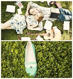 Did you have it yet? That first picnic date of the year? No? What are you waiting for?! #green #moccasin #date #outdoors #idea #spring #weekend #fun #love #shoes #summer Carlo Pazolini