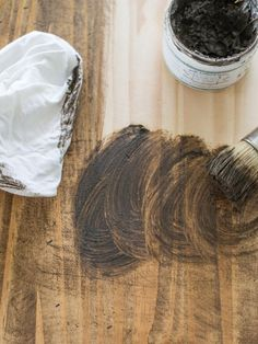 Make New Furniture Look Old | Design 101 | HGTV >> http://www.hgtv.com/design/decorating/design-101/how-to-make-a-new-table-look-old?soc=pinterest