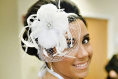 Unique DIY Weddiing hair accessories | chic bridal headbands unique wedding hair accessories feather flower ...