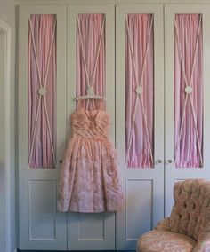 #PrincessCloset. Pretty pink Luxury closet detail  .  Perfect or a nursery, little princess for a #PinkDiva.  This Closet by Ruthie Sommers  isHeavenly!