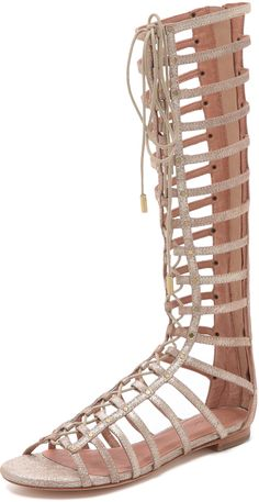 Studded accents on these shimmery leather gladiators. Joie Falicia Gladiator Sandals