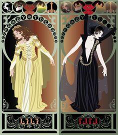 Legend Nouveau - Mirrored Art Print by CaptainLaserBeam Art Nouveau Mucha, Art Nouveau Poster, Fantasy Films, Fantasy Art, Tarot, Armadura Medieval, My Fantasy World, Mirror Art, Movie Costumes