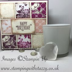 🟄 Birthday Tile Card 🟄 Good Morning Everyone! I hope you are all doing well and have lots of fun things planned for this wee. Good Morning Everyone, Happy Birthday Images, Product Ideas, Creative Cards, Card Holders, Fun Things, Gift Tags, Stamping, Card Ideas