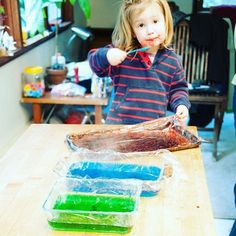 Got my little helper with me making some edible optics for end of school science…