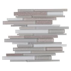 Sea Cove Linear Glass and Stone Mosaic - 12in. x 12in. - 100190032 | Floor and Decor