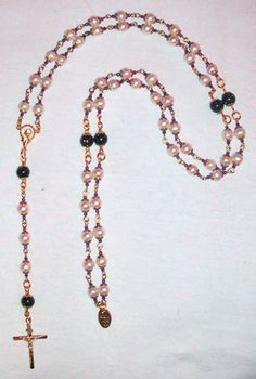 9ct Pearl & Blue Goldstone Rosary