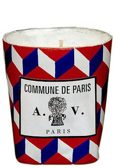 A colorful candle - Bastille Day French Decor