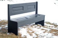 bench from bi fold doors...have to be solid wood