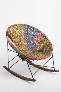This beautiful hand-woven rocker is fundamental building block of my dream reading corner- a place to curl up and lose myself. I love that every chair is different, and that the colors are so beautiful and vibrant.