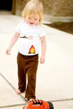 Marshmallow Capfire Onesie  Baby Gift by TheWishingElephant, $18.00