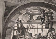 'Diego Rivera trabajando' (a la izquierda, de espaldas). TINA MODOTTI