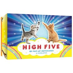 There's nothing more beautiful than achieving the perfect high five... than let's say, observing ridiculously cute animals high-fiving one another! *faints*  Our outstanding High Five Pop-Up Notecards are paws-ibly the cutest high fives of all time!  Scratch that.  They are.  Fur-real!