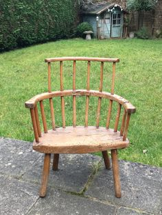 century West Country stick back chair. Windsor Chairs, Settees, Primitive Furniture, Welsh, Outdoor Furniture, Outdoor Decor, Furniture Making, Benches, 18th Century