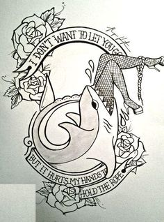 Love the saying. Not so fond of the image. It'd be a cute tattoo with a different image.