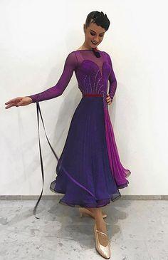 Interesting design for a ballroom dance dress