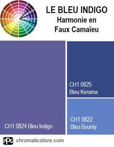 Finalisez votre projet #peinture avec le #Bleu Indigo CH1 0824 en vous rendant dans l'un de nos points de vente partenaires. Trouvez votre distributeur sur www.chromaticstore.com Bleu Indigo, Off Colour, Points, Perception, Pantone, Sweet Home, How To Plan, Deep Blue, Reading