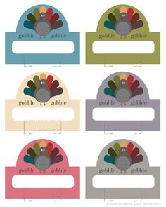 Thanksgiving Place Cards - Free Printable Turkey Place Cards